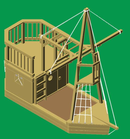 Pirate ship playhouse plans diy woodworking projects plans for Playhouse diy plans