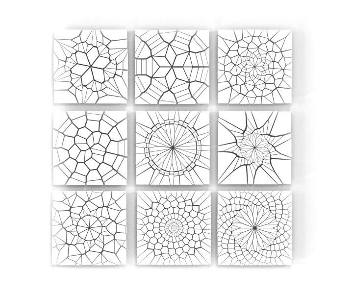 Fibonacci Sequence +Voronoi Pattern