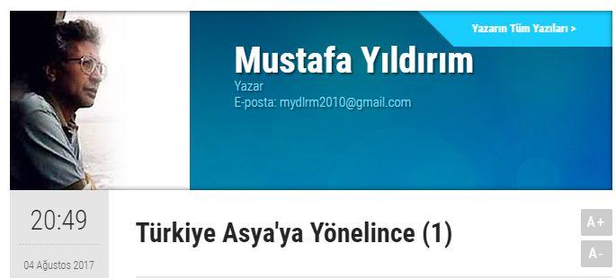ASYA DOSYASI /// MUSTAFA YILDIRIM : Türkiye Asya'ya Yönelince (BÖLÜM 1 VE 2)