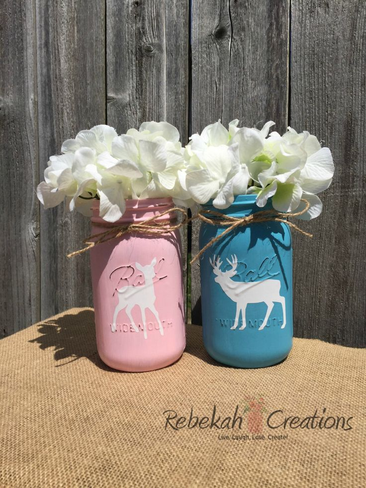 buck or doe mason jars  buck and doe mason jars  buck or