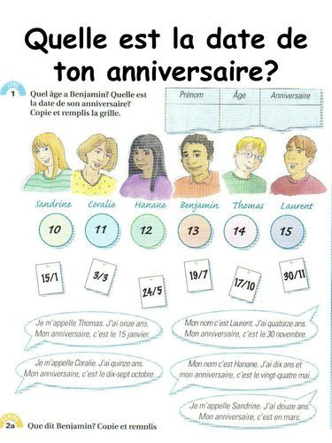 FRENCH – How old are you? – Quel âge as-tu? et C'est quand ton anniversaire? – Worksheets