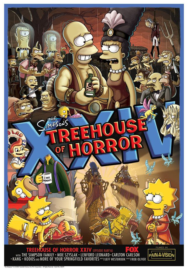 Simpsons Treehouse Of Horror Xxv Part - 45: The Simpsons Treehouse Of Horror Giclee Prints