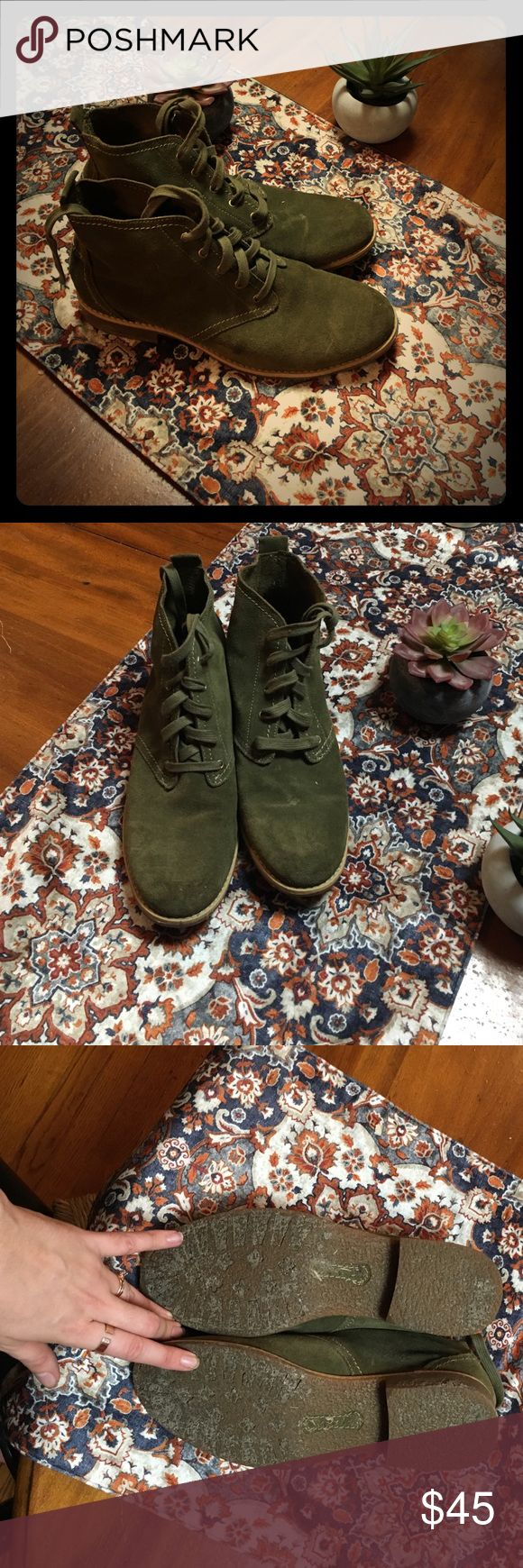 Suede Timberland EarthKeepers Army green. Worn Once Timberland Shoes Ankle Boots & Booties