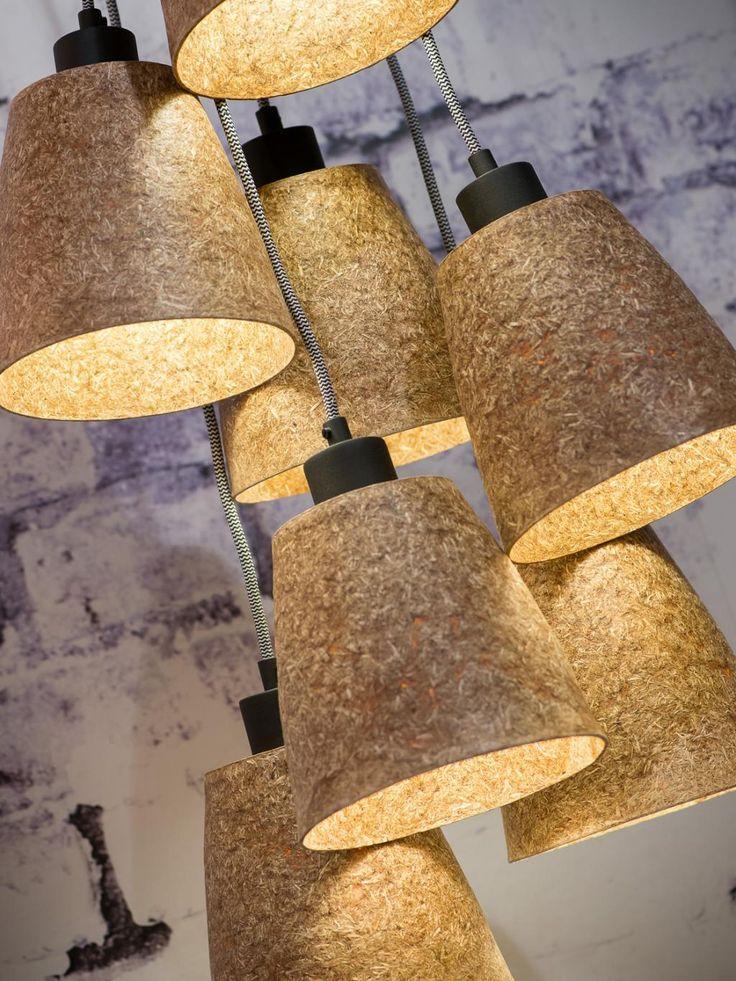 Hanglamp Sequoia - Houtsnippers - 7-kaps - naturel - Good&Mojo