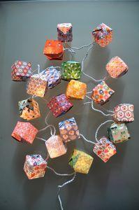 Guirlande origami papier Fifi Mandirac