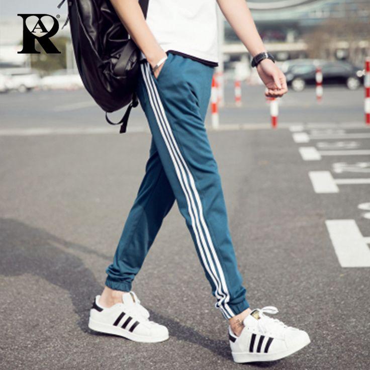 2017 fashion Men's trousers joggers hip hop fitness pantalon homme casual pant  sweatpants M-5XL full size line pattern pant