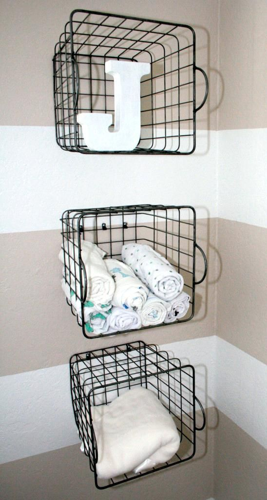 Best 25 Wall Mounted Wire Baskets Ideas On Pinterest