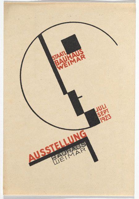 Dorte Helm. Bauhaus Ausstellung Weimar Juli–Sept, 1923, Karte 14. 1923. Lithograph.