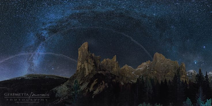 Arched Milky Way in Val Civetta