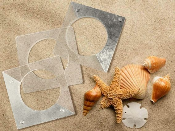 Handmade plexiglass & metal bracelets