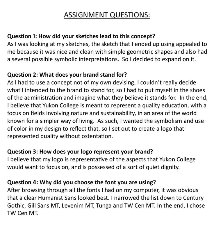 Part 10: Assignment Questions.  **IMPORTANT NOTE**: See Parts 3 and 4 for further explanation on Question 3.