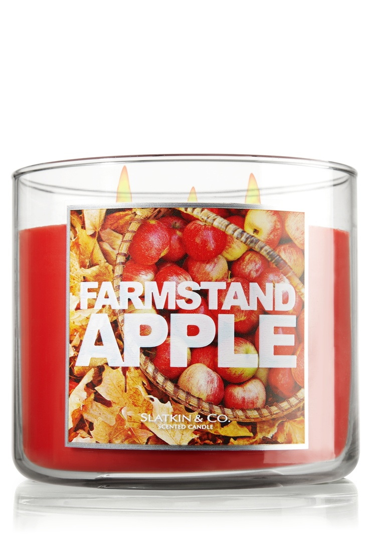 Farmstand Apple 14.5 oz. 3-Wick Candle - Slatkin & Co. - Bath & Body Works: Bath And Body Works, Farmstand Apple, Bath Body Works, 3 Wick Candle, Apple 14 5, Candles, Apples, 14 5 Oz, Products