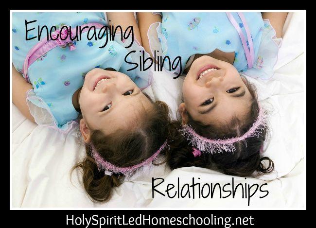 Encouraging Sibling Relationships