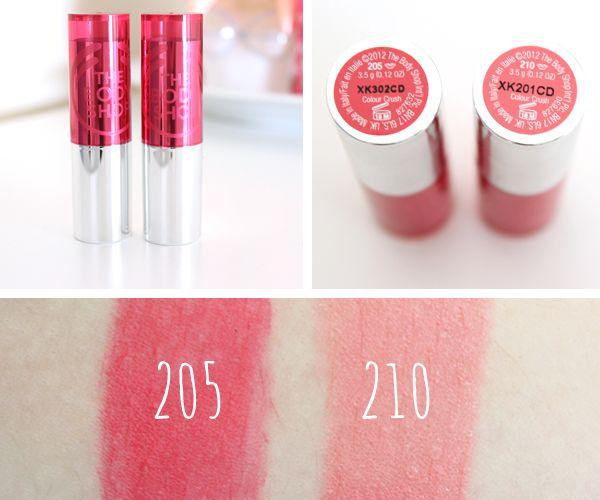 The Body Shop Colour Crush Lipsticks // 205 Passsionate Pink + 210 Sweetheart Pink | (i like 205)