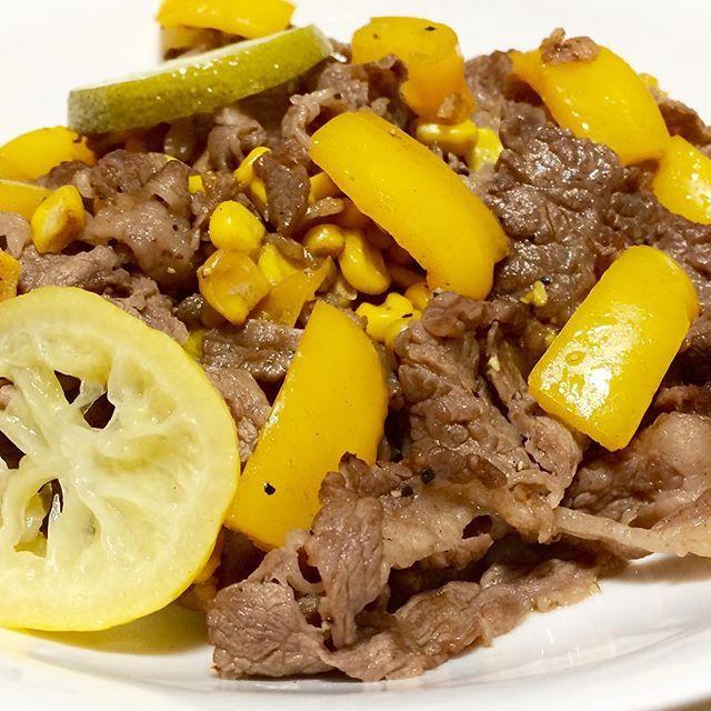 #仙台牛#和牛#パプリカ#牛肉#肉#自作#おうちごはん#男料理#sendai#wagyu#paprika#beef#meat#homemade#good#instafood#gourmet#delicious#love#mancooking#food#foodie#foodporn#foodgasm