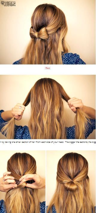 Half up hair bow tutorial <3 #hairstyle #tutorial #bow