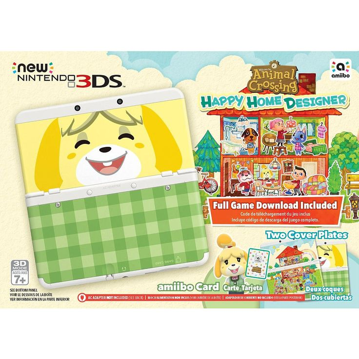 Surround yourself with 3D images and access to movies, TV shows and more with powerful streaming media capabilities. The New Nintendo 3DS bundle includes a download of Animal Crossing: Happy Home Designer, an amiibo card and two cover plates, so you can start playing and viewing right away. Grab your stylus and get ready to start creating dream homes for your favorite Animal Crossing villagers in Animal Crossing: Happy Home Designer. Personalize the interior and exterior of the homes for…