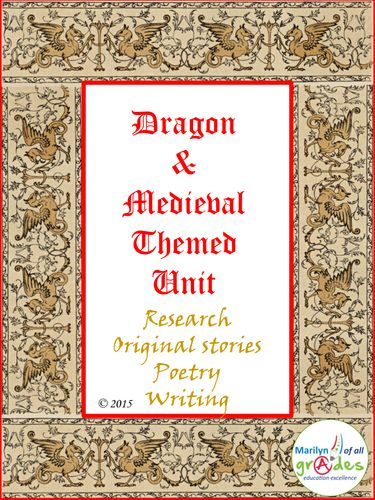 Dragon and Medieval Language Arts and Research Units. (Bundled)
