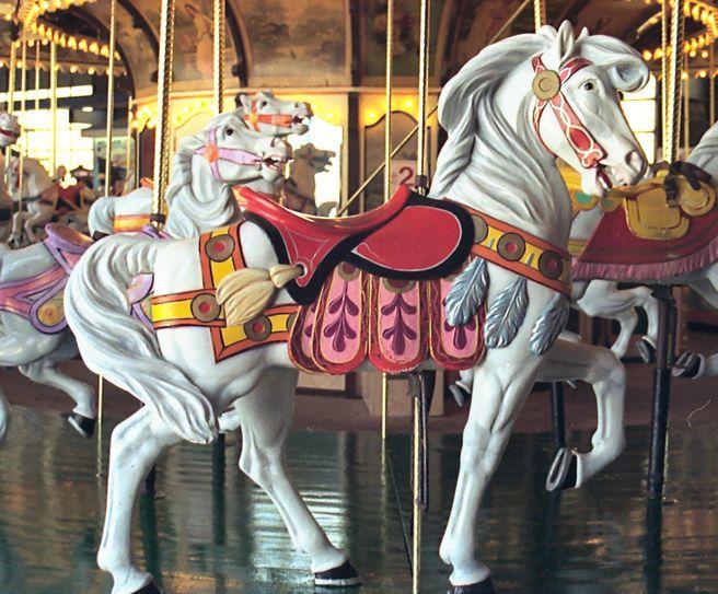 Wonderland Pier Carousel, Ocean City, NJ  (by Jean Bennett)