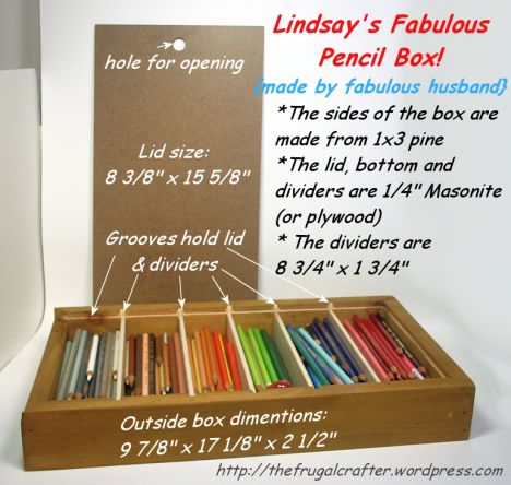 DIY Colored Pencil Storage!