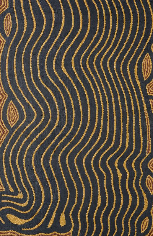 Anatjari Tjampitjinpa (circa 1927-1999) Untitled (Tjulnya Dreaming) bears artist's name and Papunya Tula Artists catalogue number AT870393 on the reverse synthetic polymer paint on linen 76 x 51cm