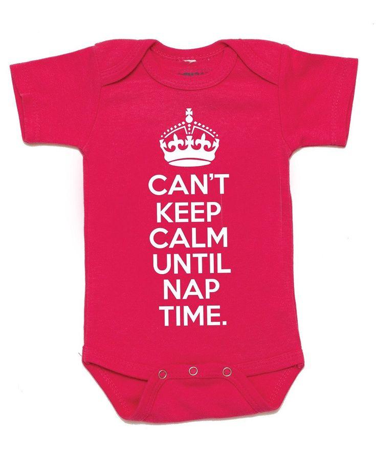 """Keep Calm"" Baby Onesie"