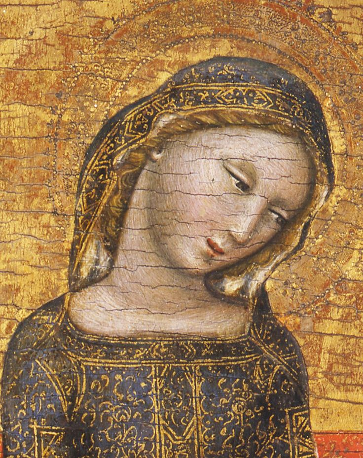 "jaded-mandarin: "" Vitale da Bologna. Detail from The Madonna of Humility, 1353. """