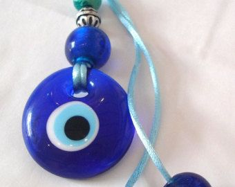 Good luck eye charm heart evil eye greece turkey by CarolinaHydra