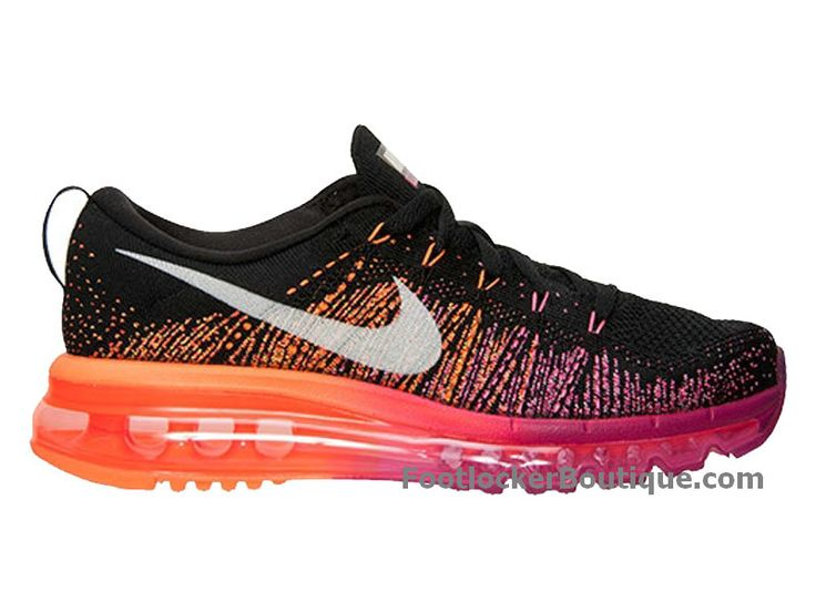 Nike Flyknit Air Max 2014 - Chaussure de Running Pour Homme Black Bright  Magenta 620659-