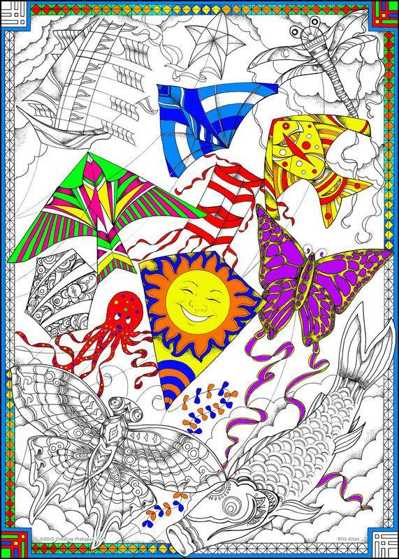Line Art Kite : Best images about kites on pinterest folk art poster