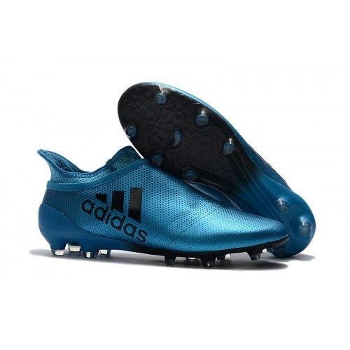 cae76a3e9d0c6 botines de futbol Adidas X 17 Purechaos FG Azules Negras 2017 ...