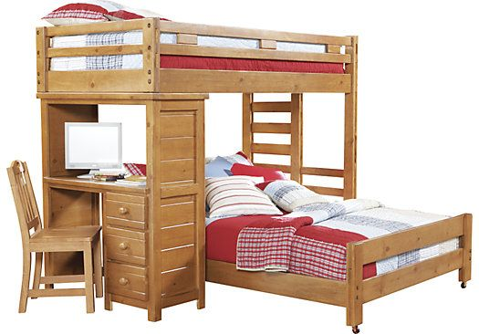 Shop for a Creekside Taffy Twin Twin Student Loft Bed w Desk at Rooms To Go Kids. Find  that will look great in your home and complement the rest of your furniture.