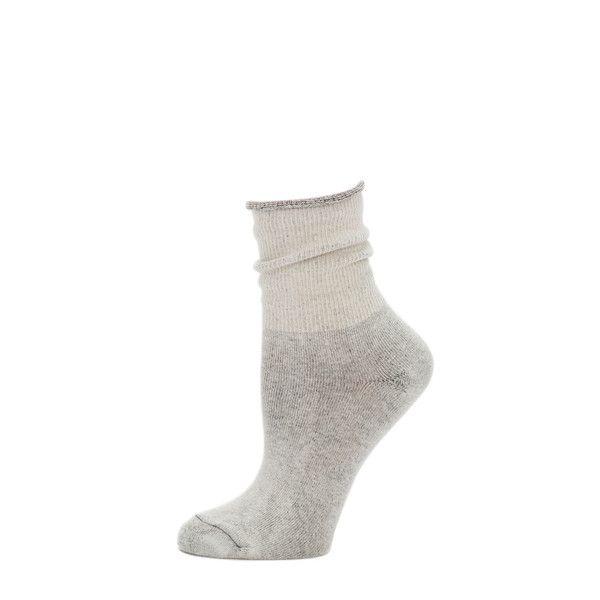 Little River Sock Mill - Solid Slouch Sock- Oatmeal