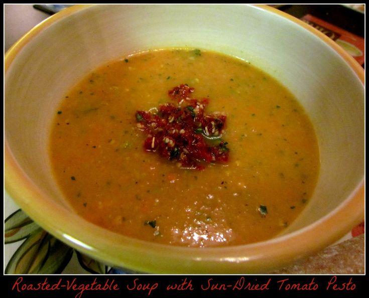 -Vegetable Soup with Sun-Dried Tomato Pesto | Recipe | Fresh basil ...