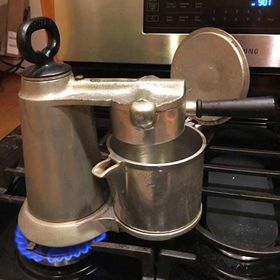 Vintage Vesuviana Brevettata Stove Top Espresso by littlejoesattic