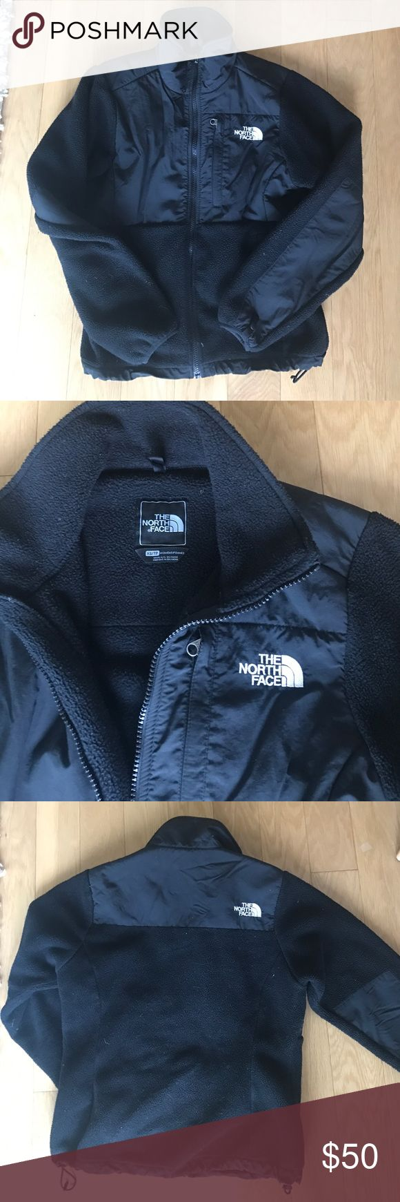 Classic Black North Face Fleece Zip Up Jacket Gently used women's black fleece zip up jacket. Cute + so warm! North Face Jackets & Coats
