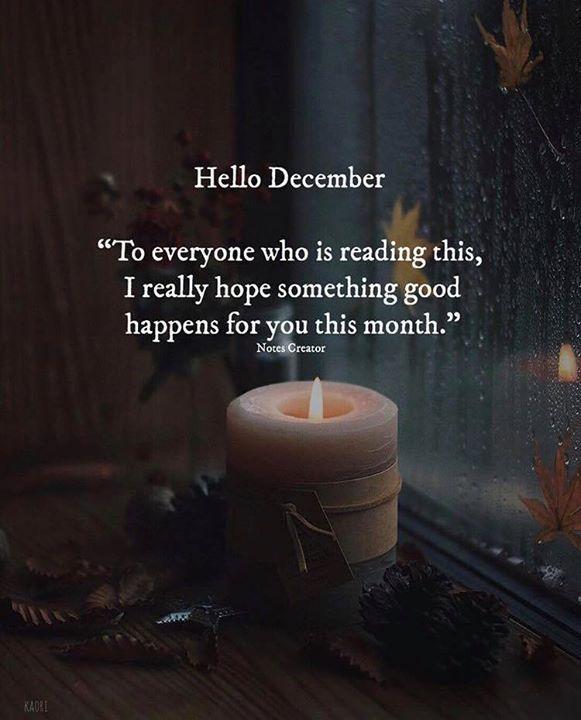 Hallo Dezember. – Sprüche