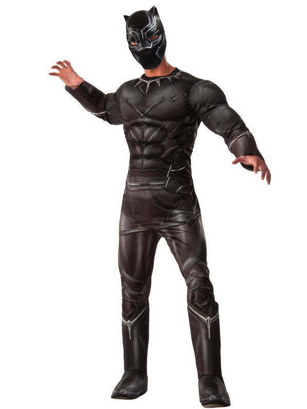 Check out Men's Marvel's Civil War Deluxe Muscle Chest Black Panther Costume - TV & Movie Mens Costumes from Wholesale Halloween Costumes