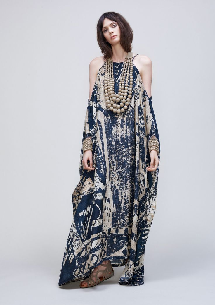 Silk Kaftan Dress -UZ