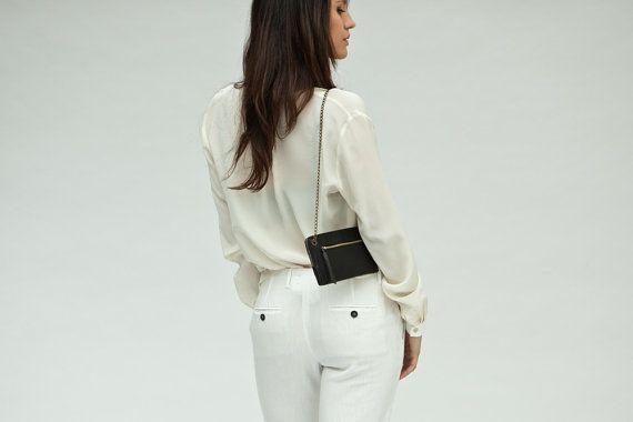Small leather purse, italian leather clutch