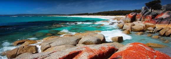 Panorama of Bay of Fires, Tasmania
