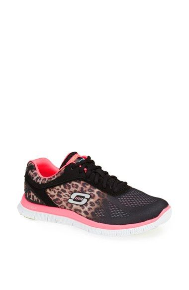 I love these!! SKECHERS 'Flex Appeal - Serengeti' Walking Shoe (Women) available at #Nordstrom