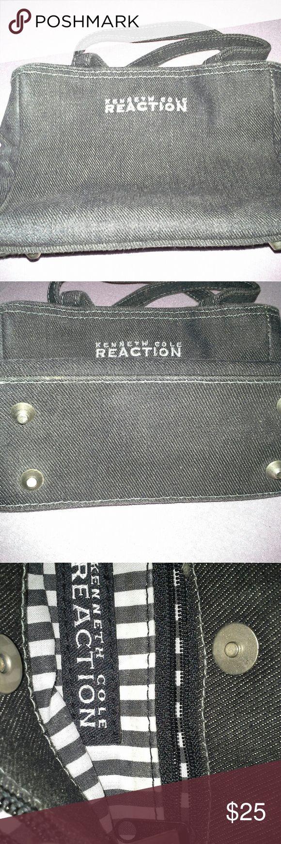 "Kenneth Cole Reaction Mini Handbag Small canvas handbag 7.5""L x 5""W.  Two zipper pockets on inside with magnetic closure Kenneth Cole Reaction Bags Mini Bags"