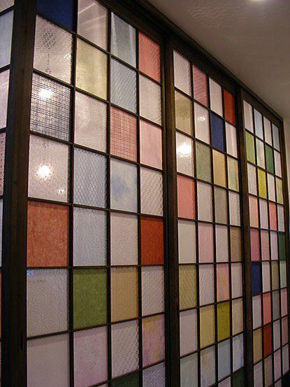 コーナー和室の彩り障子