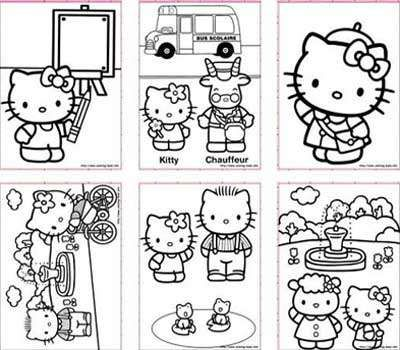 hello kitty colouring pages - Colouring Pages Of Hello Kitty