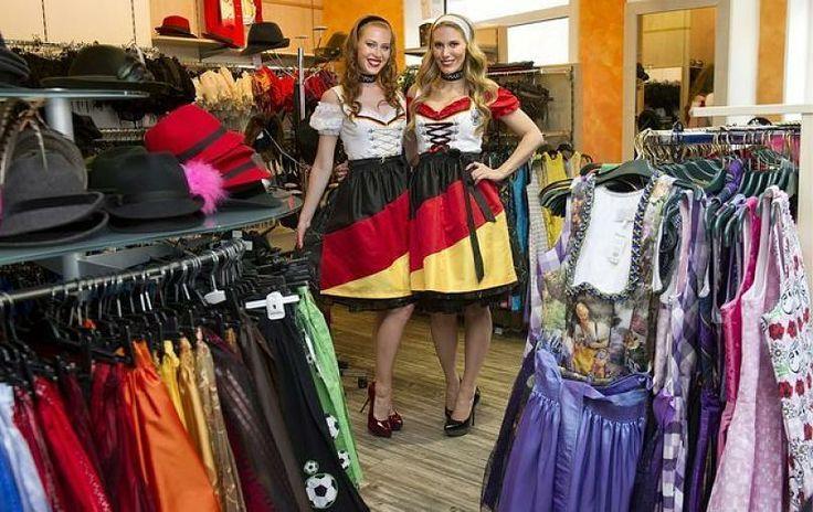 Fan-Outfits im Dirndl-Look