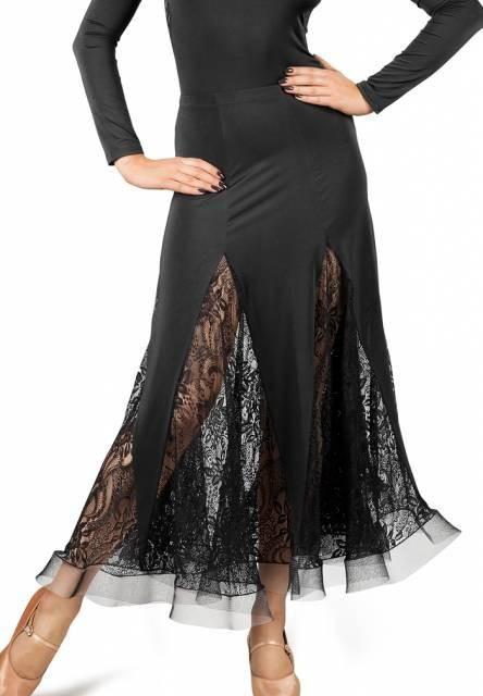 9ad71ca4afc Dancebox Lace Godet Ballroom Skirt in Black in 2019