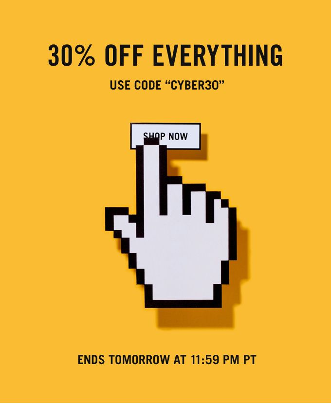 "Jack Spade: Cyber Monday: 30% Off Everything Enter Code ""CYBER30"" Through Tomorrow at 11:59 PM PT."
