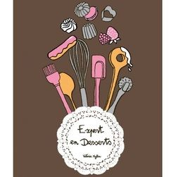 "Tablier de cuisine ""Expert en desserts"". A retrouver ici : https://www.patissea.com/tablier-expert-en-desserts-alma-mater,fr,4,TBBAMAO103874.cfm"