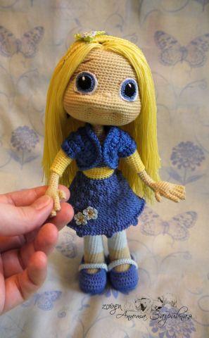 Незабудка по описанию Ани Садовской - Мои игрушки - Галерея - Форум почитателей амигуруми (вязаной игрушки)